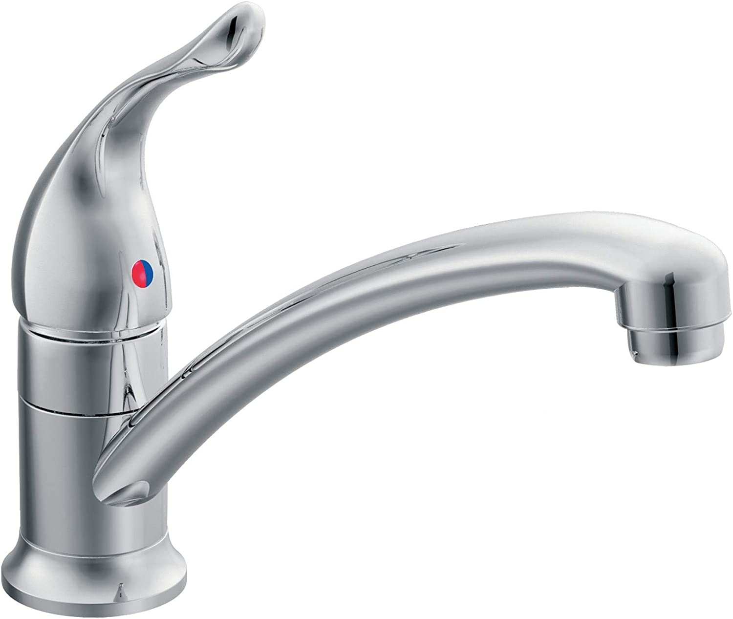 Moen 7423 Chateau One Handle Low Arc Kitchen Faucet 0 5 Chrome Touch On Kitchen Sink Faucets Amazon Com