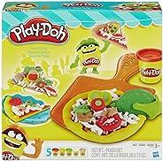 Conjunto de Massinha Play-Doh Festa da Pizza com 5 Potes Hasbro