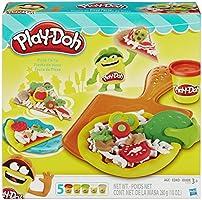 Conjunto De Massinha Play-Doh Festa da Pizza, Hasbro, Colorido, 5 Potes
