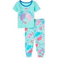 The Children's Place Conjunto de pantalón de Pijama de Manga Corta Juego de Pijama para Niñas