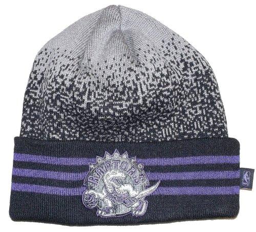 Toronto Raptors Black Beanie Hat - NBA Adidas Cuffed Knit Toque Cap