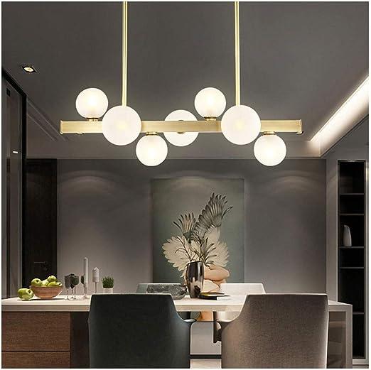 H.L Lámpara Moderna de 7 Luces, lámpara Colgante de Mesa de ...