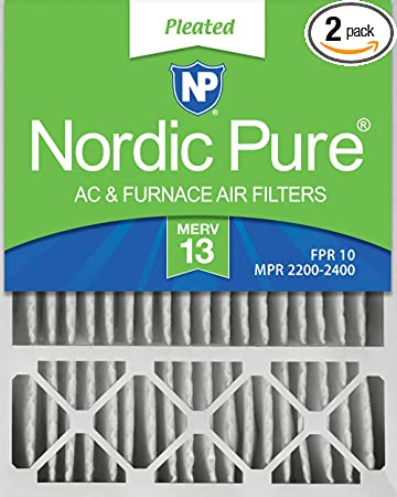 Nordic Pure 20x25x1 MERV 13 Pleated AC Furnace Air Filters 6 Pack