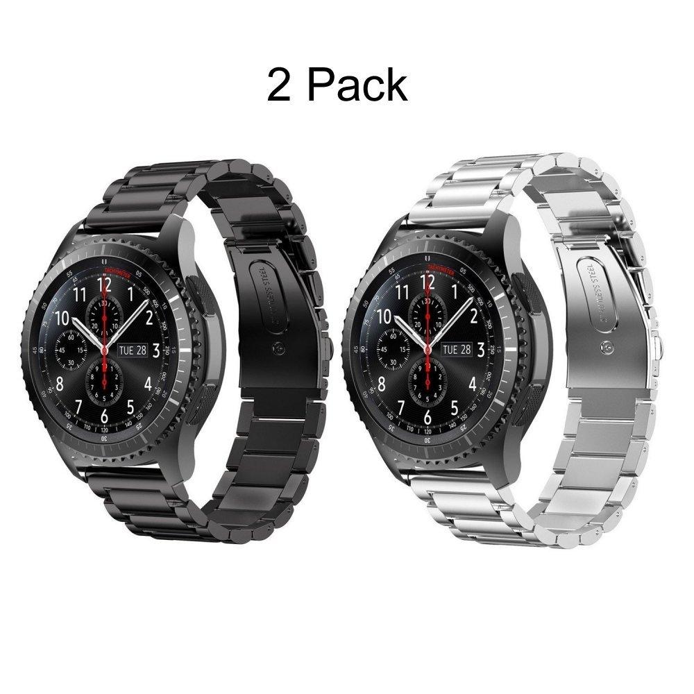 ... reloj banda, datotech 22 mm Premium sólido acero inoxidable Metal reemplazo pulsera correa pulsera para Samsung Gear S3 frontera/S3 reloj inteligente de ...
