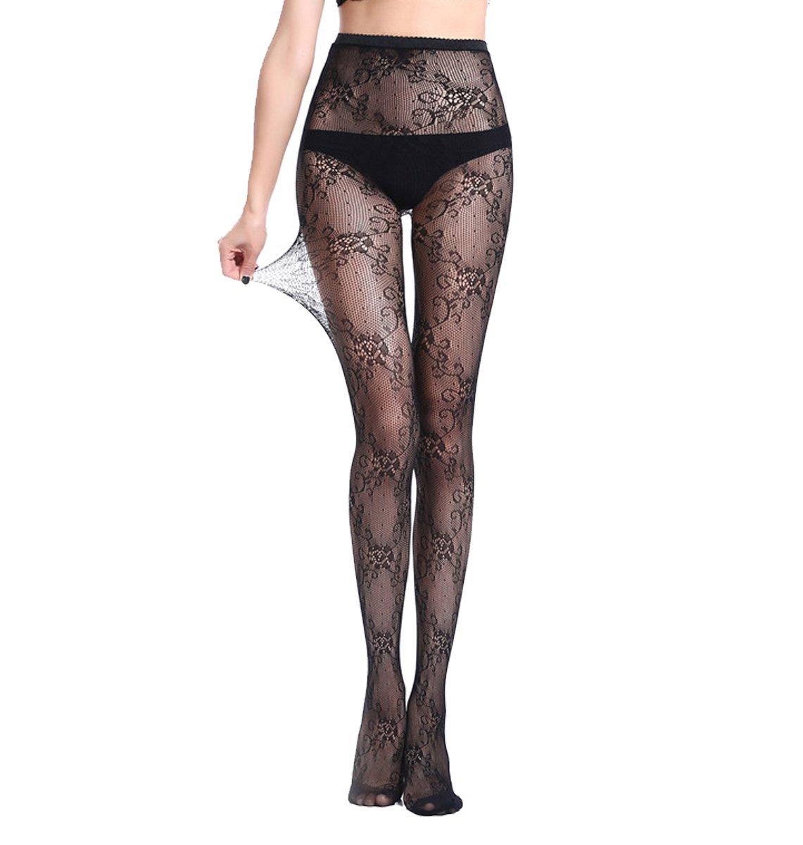 Nets Pantyhose Women's Fishnet Lace Panty Hose Jacquard Weave Stocking Lingerie