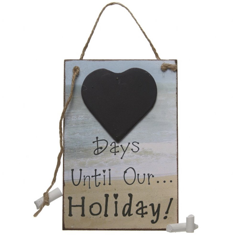 Wall Hanging Wooden Days Until Our Holiday With Heart Shaped Chalk Board Sign Heaven Sends
