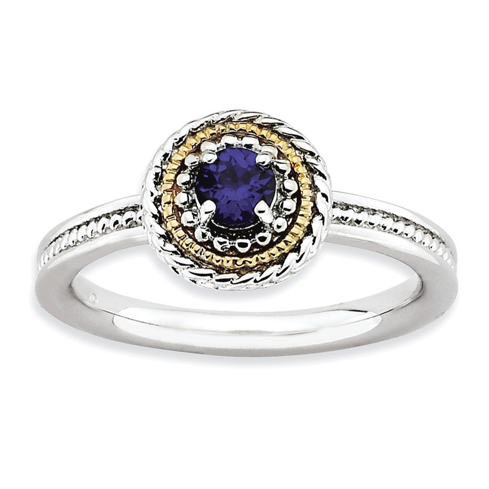Top 10 Jewelry Gift Sterling Silver & 14k Stackable Expressions Created Sapphire Ring
