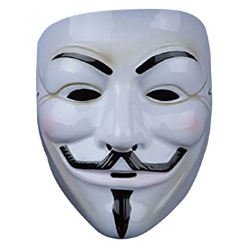 fengus Costume Mask V For Vendetta Guy Fawkes Anonymous Fancy Dress Hallowee Face Mask-Style03