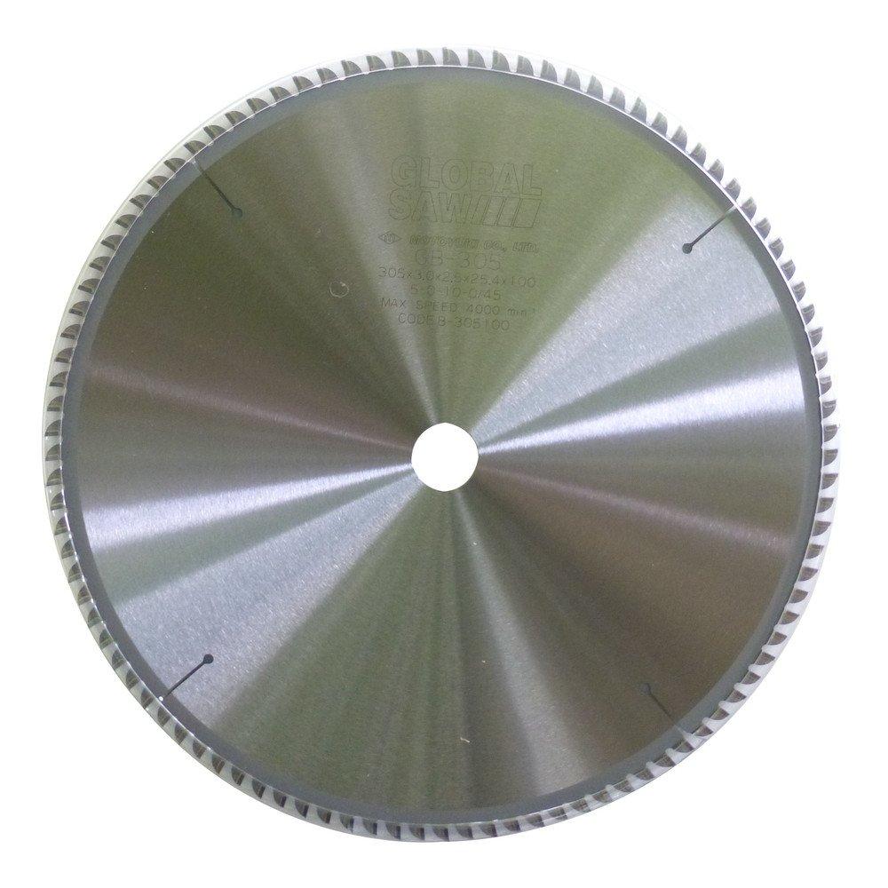 モトユキ グローバルソー チップソー 厚物 アルミ非鉄金属用 GB-255-100 B00G0N1HOY 外径:255mm|歯数:100 外径:255mm