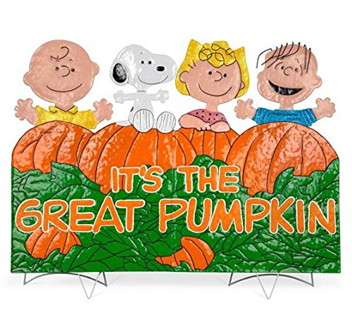 It's the Great Pumpkin Charlie Brown Metal Outdoor Halloween Decoration (Great Pumpkin Halloween Party)