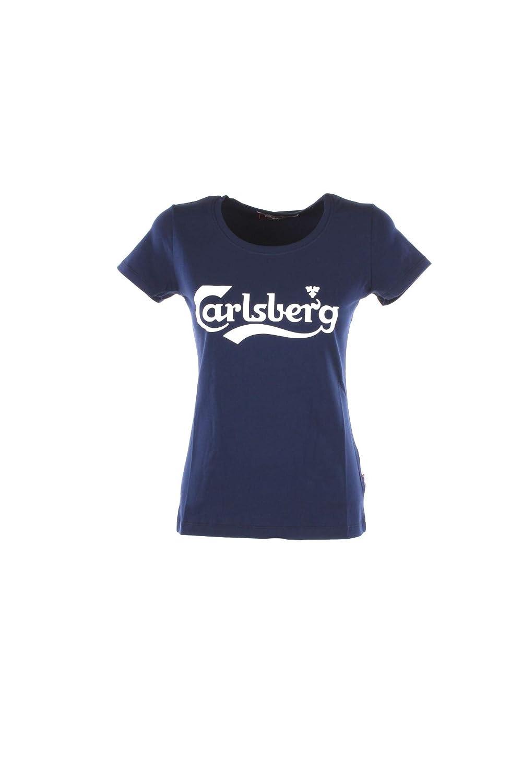 Carlsberg T-Shirt Donna XS BLU Cbd2901 Autunno Inverno 2018/19