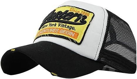 Xinantime Sombrero, Sombrero Hip Hop Gorras Beisbol Gorra para Hombre Mujer Sombreros de Verano Gorras de Camionero de Hip Hop Impresión Bordada, Talla única (Negro): Amazon.es: Deportes y aire libre