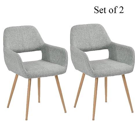 Amazon.com: Sillas de comedor escandinavas modernas de tela ...