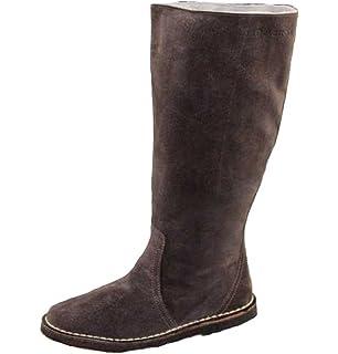Delacroix Stiefel Shoe Leder Lammfell Winterstiefel Gr 36 40 5 2287 braun bunt