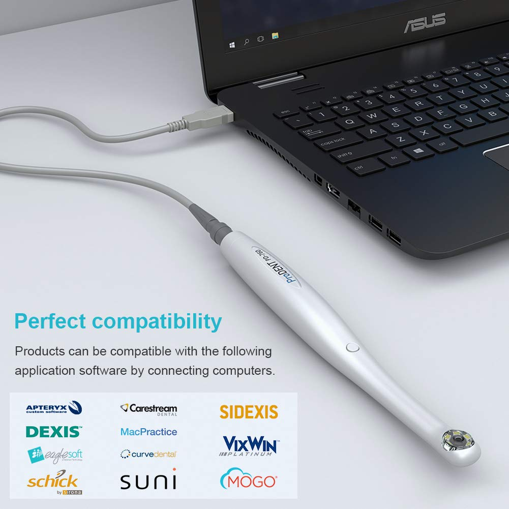 ProDENT HD Intraoral Camera PD760, USB Dental Camera, Capture Button Work with Eaglesoft,Dexis, carestream and Most Imaging Software by ProDENT (Image #7)