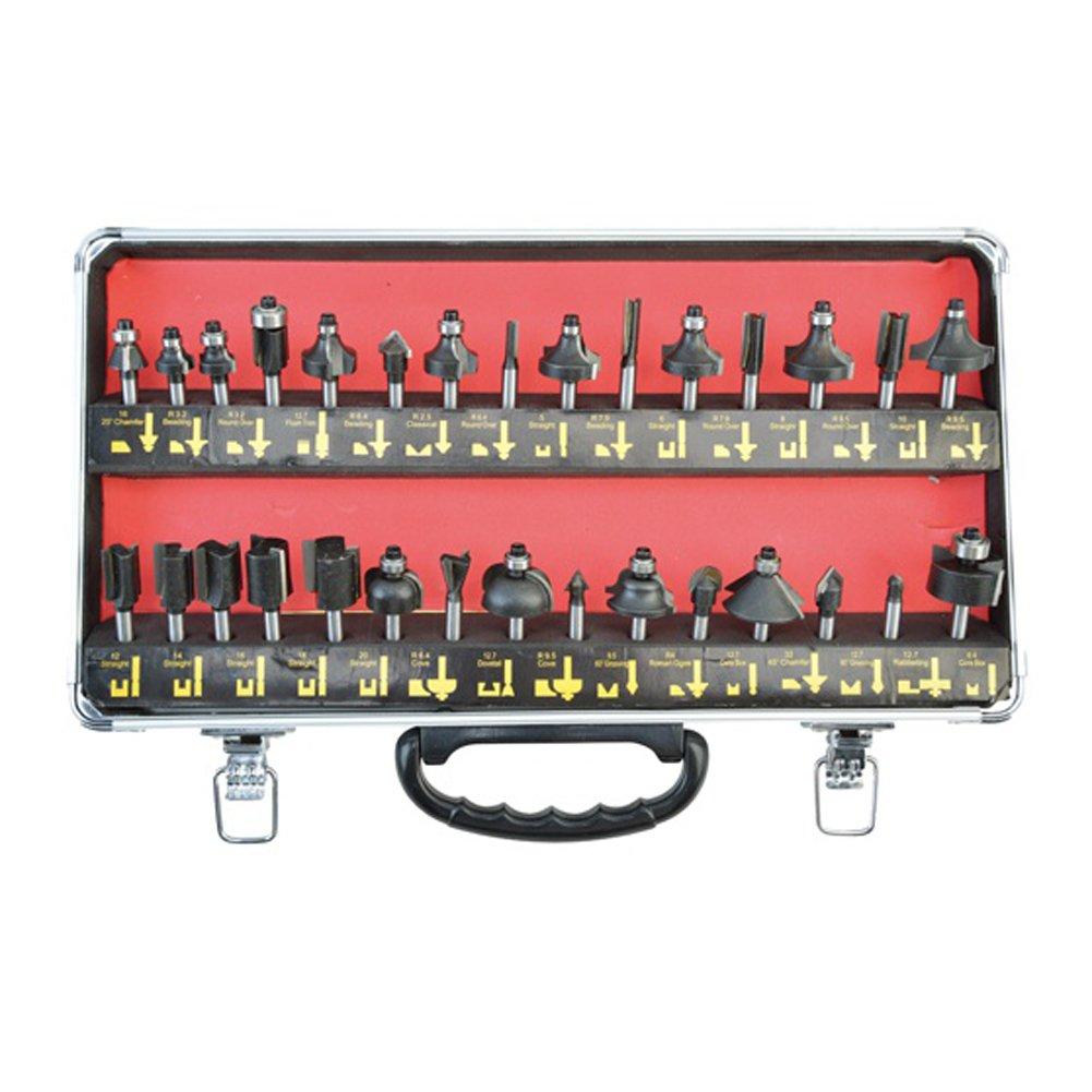 [SMATO]30pcs 6mm Shank Trimmer Bit Set SM-TB630 for Wood Woodworking Power Tools [SMATO] 30木6ミリメートルシャンクトリマービットセットSM TB630木材木工用電動工具 [並行輸入] B01N21QGXS