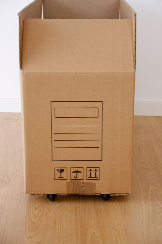 3 Cajas de cartón para mudanzas de alta calidad con ruedas ...