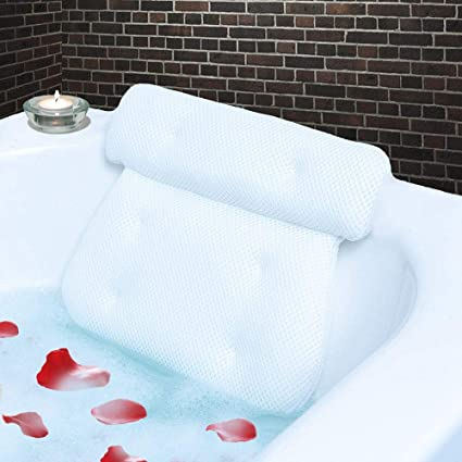 Amazon.com: Homer's Choice Bath Spa Pillow with 6 Suction Cups ... on luxury master bathroom designs, luxury bathroom tubs, luxury hotel bathroom, luxury bathroom suites, luxury bathroom showers, luxury bathroom faucets, luxury bathroom vanity cabinets,