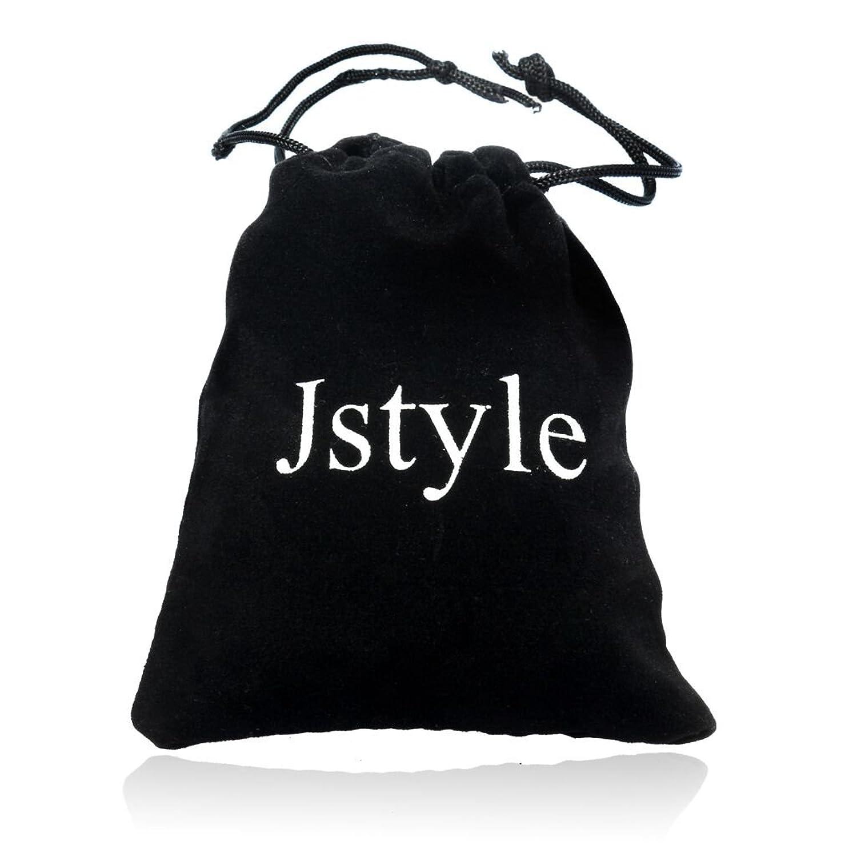 03c4ce768755 Jstyle Pulseras de cuero trenzado de los hombres negros de Cuero Cierre de acero  inoxidable  Amazon.es  Joyería