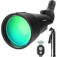 20-60x80 HD Spotting Scopes with Tripod, 45-Degree Eyepiece Waterproof Angled Spotting Telescope, Optics Zoom 99-49.5Ft…