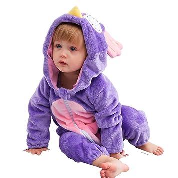 Pijama con capucha para recién nacido, con forro polar, para niños y ...