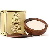 Taylor of Old Bond Street Sandalwood Shaving Soap in a Wooden Bowl 3.5 oz.