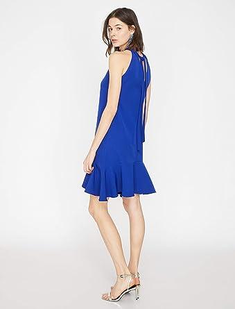 e1b5dd1a1146d Koton Kadın Günlük Elbise Mavi, Üretici Ölçüsü: 34