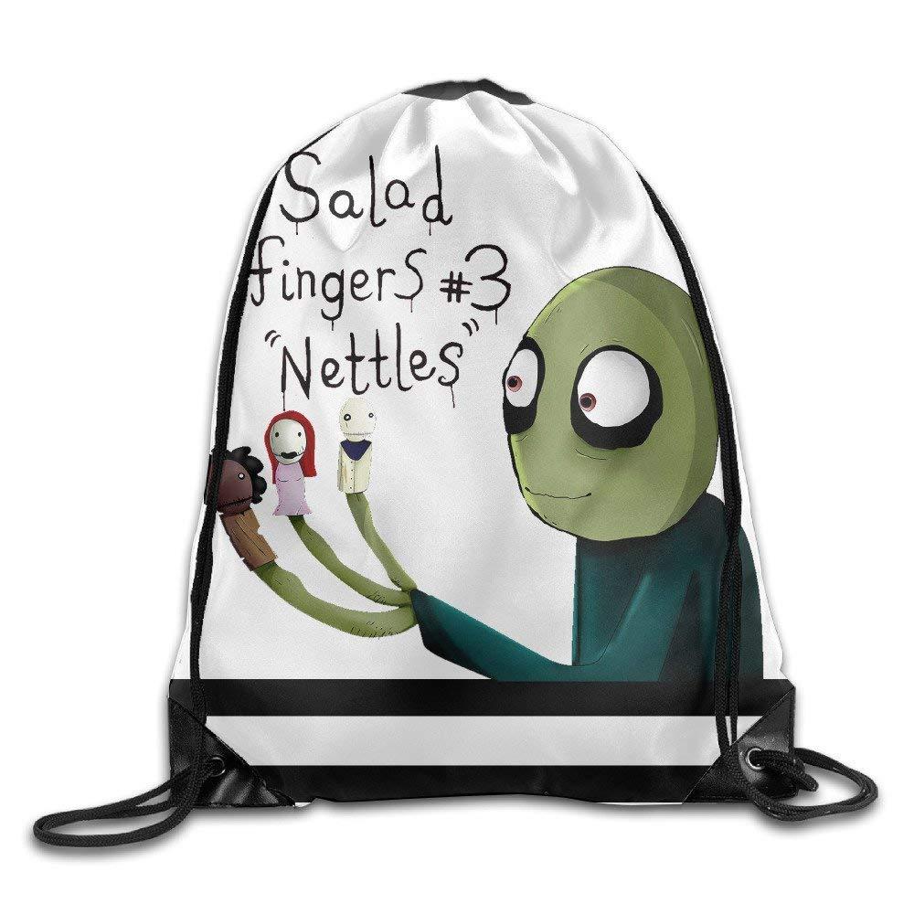 Salad Fingers Fashion Print Drawstring Backpack Bag One Size