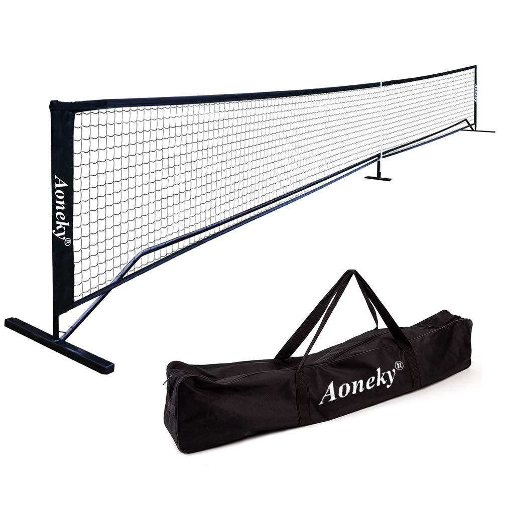 Aoneky Portable Pickleball Net System - Picklenet Outdoor Game Set - Pickle Ball Net