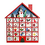 Wooden Advent Calendar House with 24 Drawers as Gifts for Kids