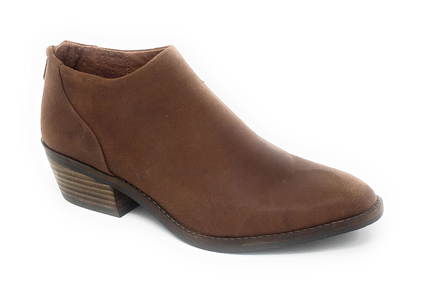 Lucky Brand Women's FAI Toffee Antik Grease Leather Back Zip Booties