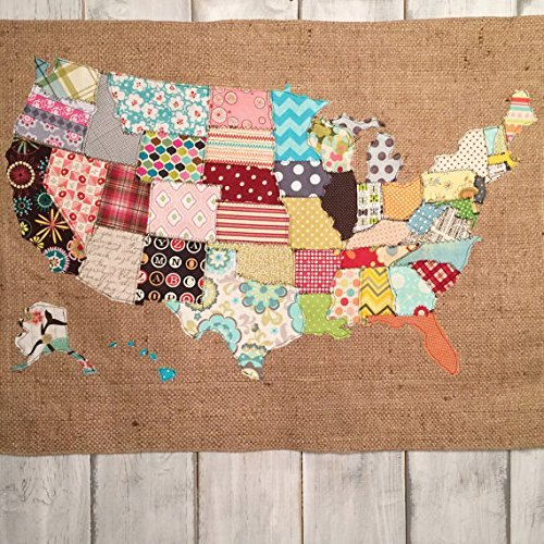 Amazon.com: Fabric United States Map: Handmade