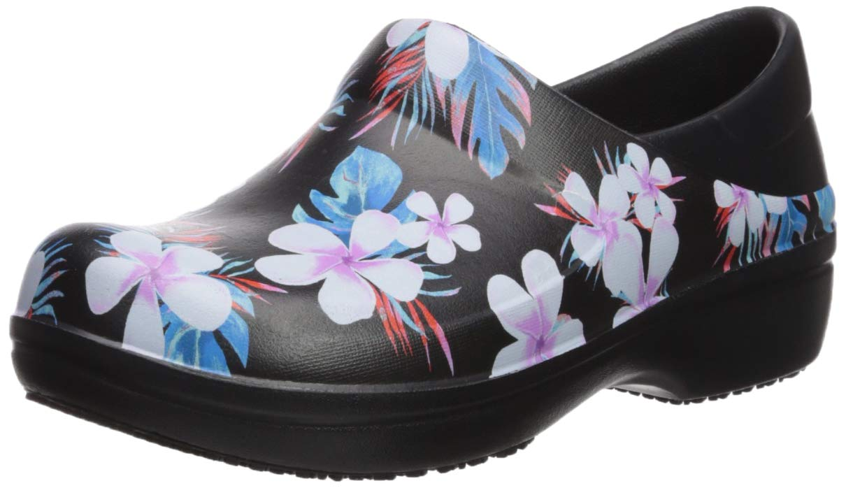 740ae8fed764a Crocs Women's Neria Pro II Graphic Clog | Slip Resistant Work and Nursing  Shoe