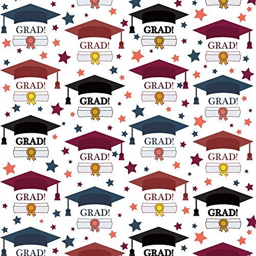 graduation cap wrapping paper - 1