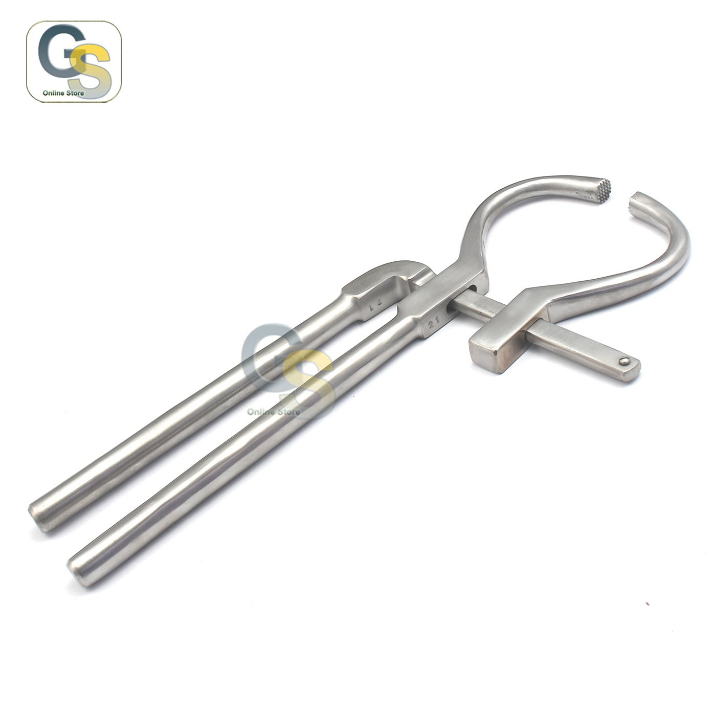 G.S ONLINE STORE G.S Adjustable HOOF Tester Pliers 13'' Horse Foot Stainless Steel Veterinary Diamond Cut Edge