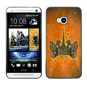 Planetar® ( Giraffes Mega City ) HTC One M7 Fundas Cover Cubre Hard Case Cover