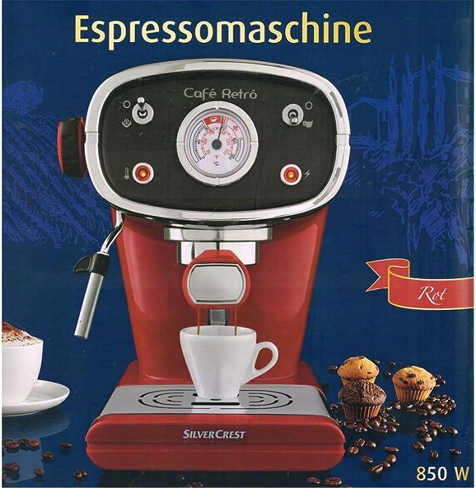 DeLonghi Silvercrest Espressomschine 15 Bar 850 Watt portafiltros sistema: Amazon.es: Hogar
