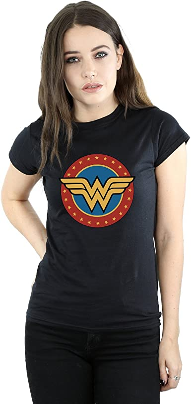 TALLA XL. DC Comics Mujer Wonder Woman Circle Logo Camiseta