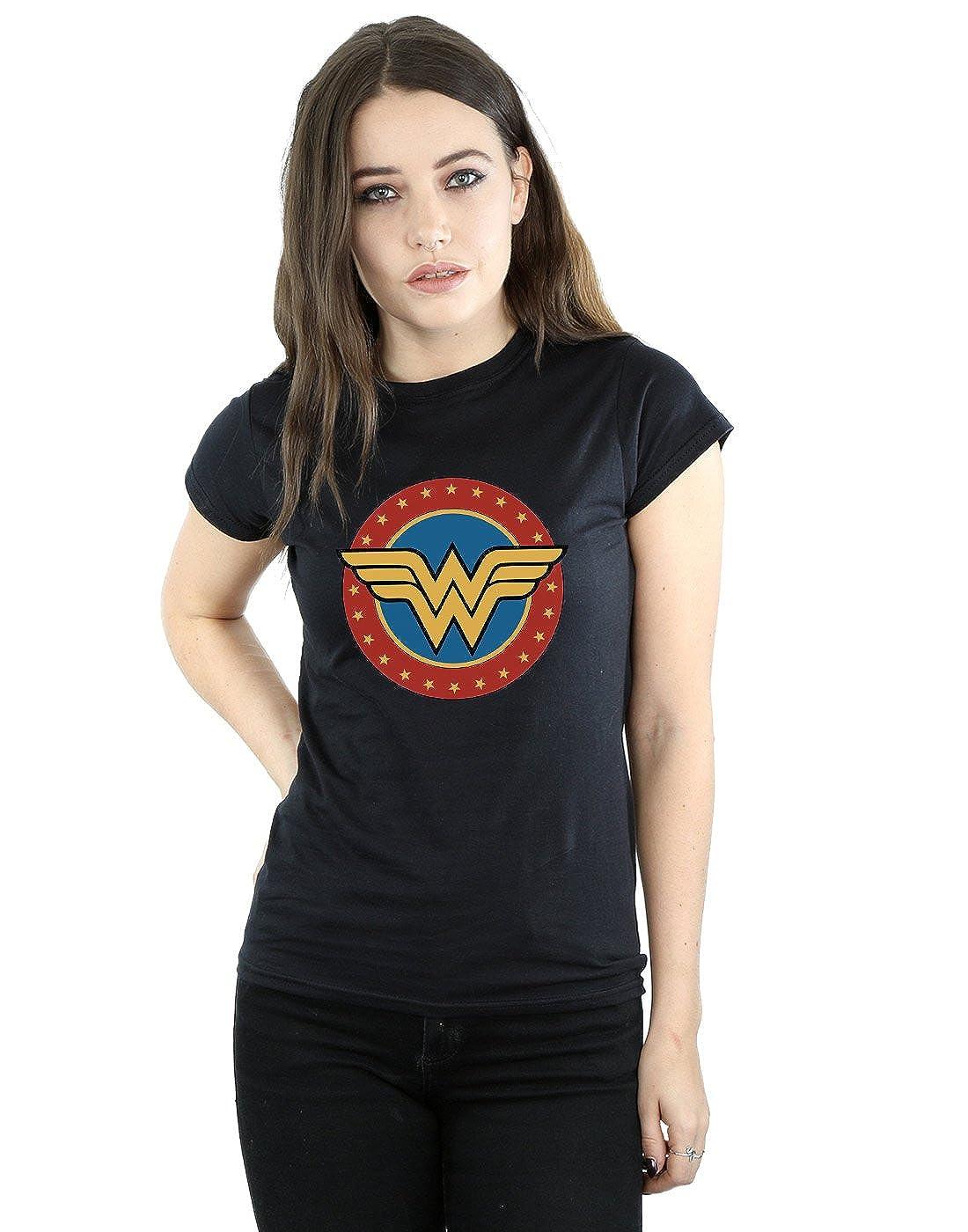 DC Comics Mujer Wonder Woman Circle Logo Camiseta