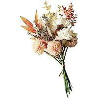 PRETYZOOM Flores artificiais de seda, dente-de-leão; buquê de flores, buquê de noiva, arranjos de flores, decorações