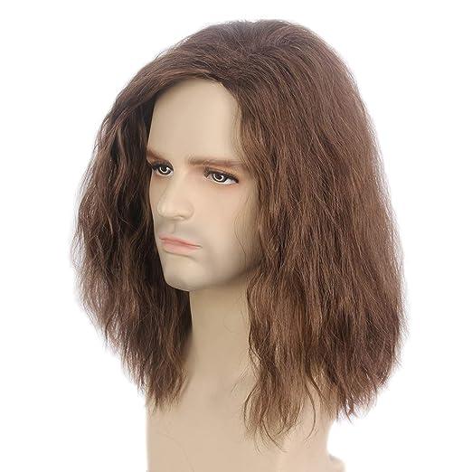 Amazon.com: STFANTASY Peluca marrón ondulada de longitud ...