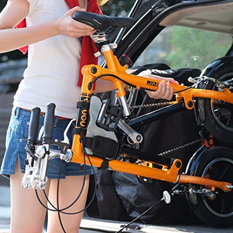 Nanoo FB12 Bicicleta plegable Nanoo Rojo: Amazon.es: Deportes y aire libre