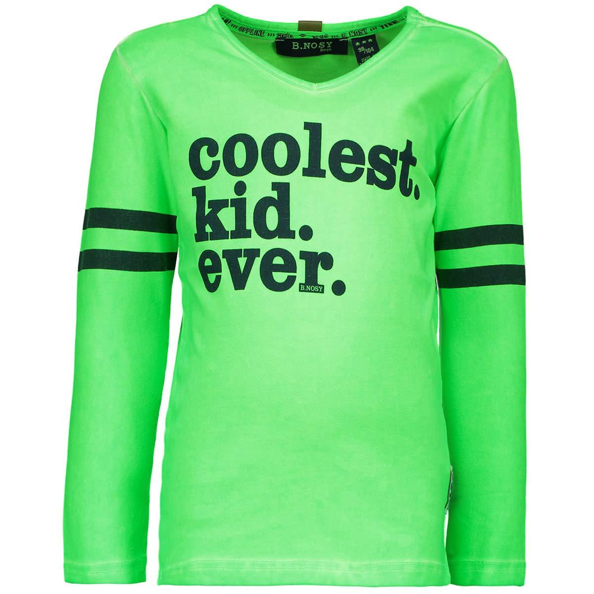 B.Nosy Teens Jungen Shirt Langarm Neon Frog 6404-312