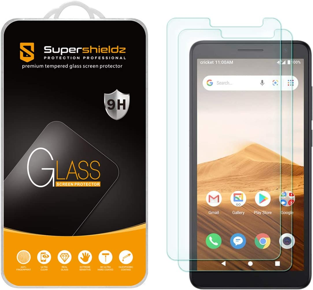 (2 Pack) Supershieldz for Alcatel Apprise Tempered Glass Screen Protector, Anti Scratch, Bubble Free