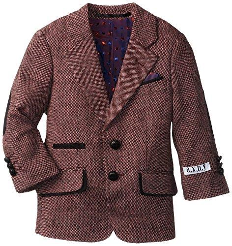 (a.x.n.y. Little Boys' Little Wool Tweed Blazer, Pink, 5)
