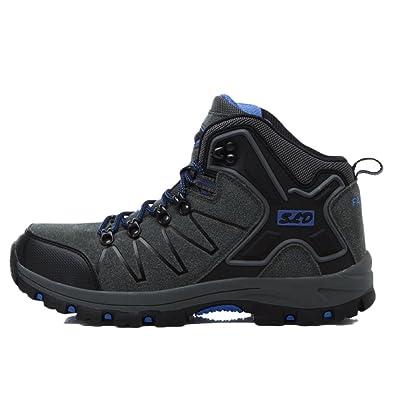 nihiug Wanderschuhe Männer Wasserdicht Knöchel Leichte Frühling und Sommer Atmungsaktive Mesh Schuhe Freizeitschuhe Sportschuhe,Black-43