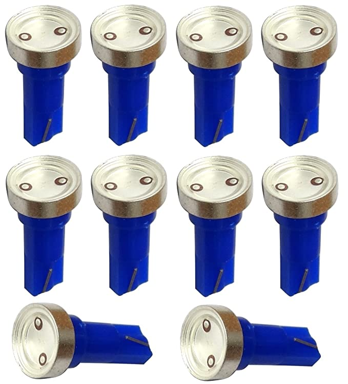 AERZETIX: 10 x Bombillas T5 12V LED HIGH POWER 1W para salpicadero Luz azul: Amazon.es: Coche y moto