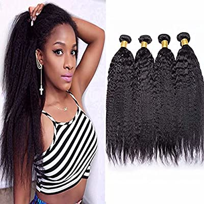 Maxine 9A 100% unprocessed Yaki Straight Wave Hair Extensions Weft ...