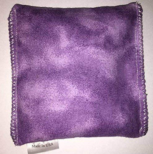 Lavender Hot and Cold Pack Reusable Microwaveable Rice Pack 5 inches by 5 inches Handmade reusable hot pads and reusable ice packs Hot Cold Pack Ideal Gift