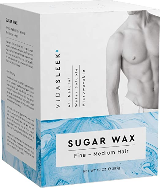 Hair Removal Sugar Waxing Kit Men + Women, All Natural (10 oz) best home waxing kit